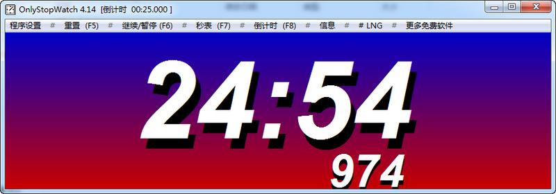 OnlyStopWatch V4.21 计算机秒表软件