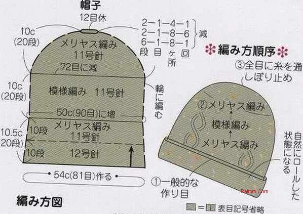 毛线帽子图解-编织-生活妙招-生活常识-2345生活百科