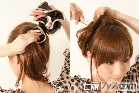 夏日学生马尾辫的扎法图解 偷学王心凌同款发型