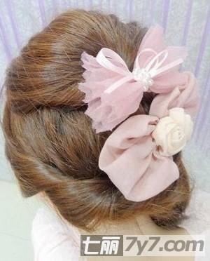 头发图片编发气质扎法长发彰显步骤公主的清日系露耳短韩式带刘海发型图片