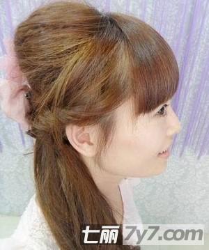 韩式长发编发步骤扎法图片彰显女生公主的清中分刘海气质图片2015长发中披肩发型图片