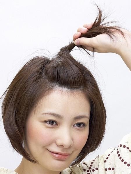 短发怎么扎头发简单好看 三款日本和服发型图解