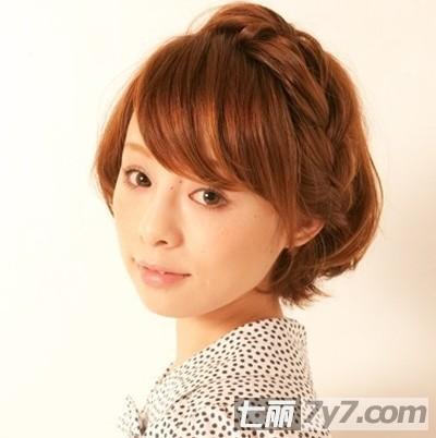 波波头怎么扎 2012最新韩式短发编发扎发