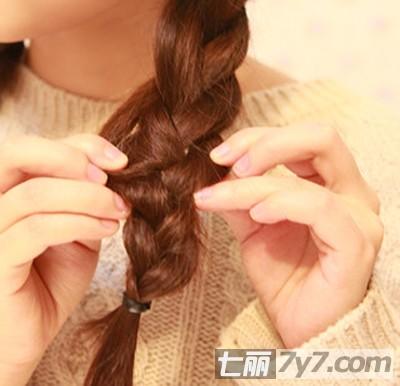 小清新浪漫发型编发教程 diy时尚气质简单女生发型