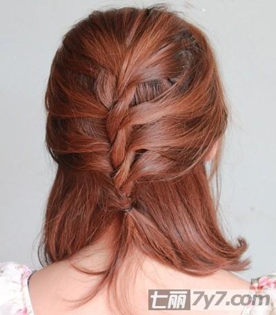 好看的短发发型扎法步骤 教你怎么把短发扎成淑女范