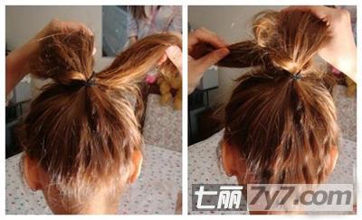 简单丸子头发型图片 潮爆diy韩系少女发型扎法图解图片
