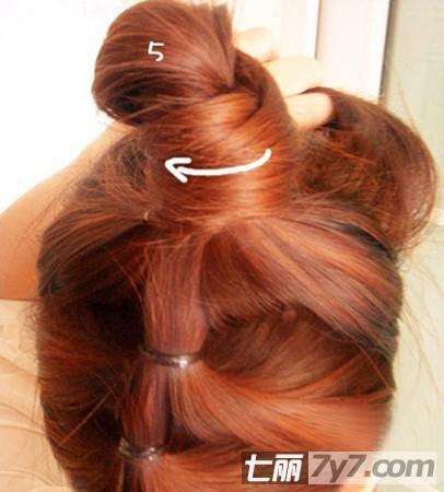 花苞头发型的扎法图解 编发盘发教程一分钟搞定