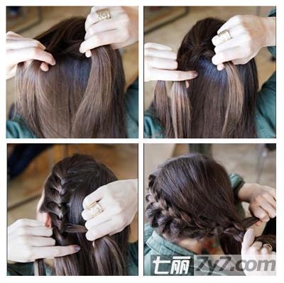 韩式蝎子辫侧盘发编法 简单diy教程速成淑女发型