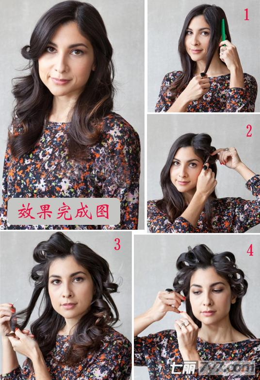 导读:春季是个浪漫的时节,将头发留长,根据自己的喜好,或是特定的场合将头发卷起来。想要花心思弄头的朋友们,可以看看达人是如何自己打理卷发,如何做出一次性卷发的吧!  卷发步骤图解完成后的示意图:熟女女性性感温婉完美结合,上班、约会、聚会都时尚潮流的一款卷发,想要知道怎么打理的亲们,跟着达人示范吧!步骤1:在卷发之间,在头发上喷上丰盈喷雾,为头发定型,然后用吹风机一边吹一边梳顺,之后将头发中分,从两侧刘海处取出三指宽的头发。步骤2:将头发划分界线,呈上下两部分,喷涂少量的喷雾,之后用大号的卷发棒将头发向上夹