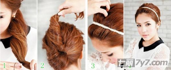 圆脸适合的发型 韩式优雅魅力盘发发型