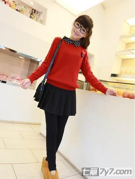 针织衫怎么搭配显瘦 矮个子女生的时尚穿搭术