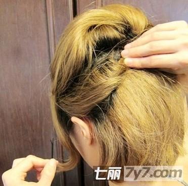 用皮筋做短发自然内扣分享展示