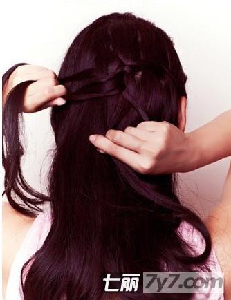 伴娘发型披肩编发视频_美美编织图片图片