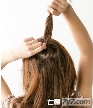 气质半扎发花苞头 打破沉闷发型