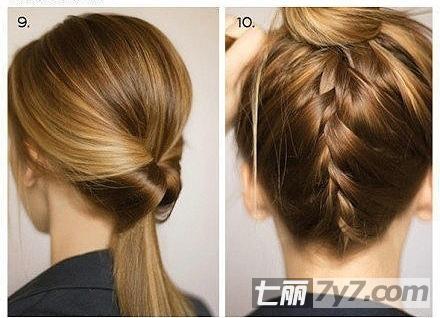 马尾辫的各种扎法图片
