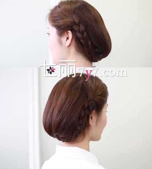 果图:这款韩式长发盘发发型步骤,是夏季凸显清爽的造型之一,整图片