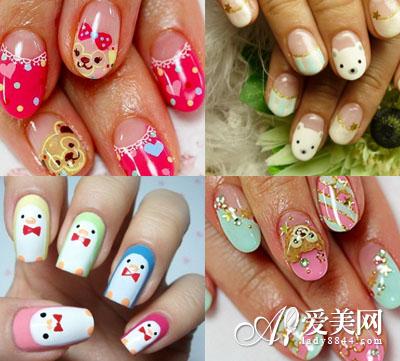 手绘动物美甲,让各位喜欢小动物的亲们在指尖上也能饲养超萌的宠物!