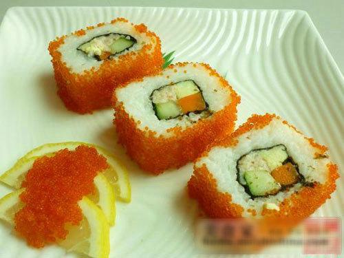 竹帘寿司步骤图片