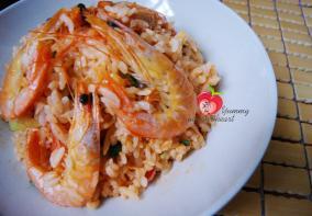 番茄酱海鲜炒饭
