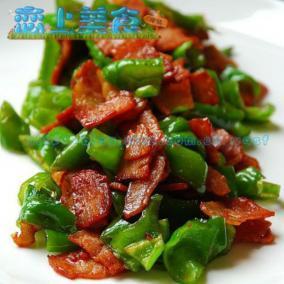 培根炒青椒