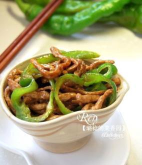青椒炒肉丝