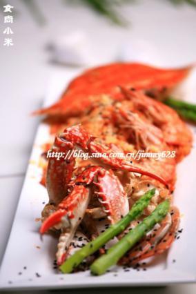 辣白菜焗蟹盒