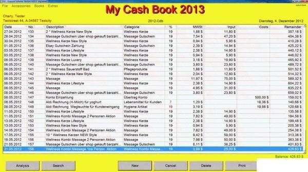 FGS CashBook(财务管理软件)下载